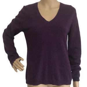 FWM Purple Cashmere V-Neck Sweater L